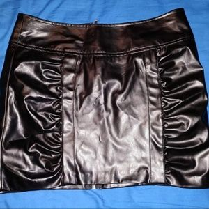 Charlotte Russe Faux Black Leather Mini Skirt
